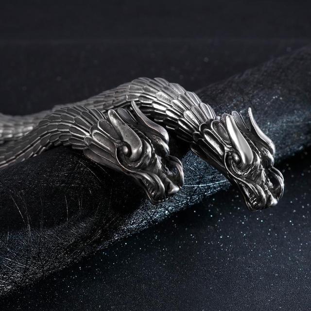 Men's Stainless Steel Dragon Shaped Bracelet