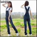 2017 New Women's Denim Overalls Suspenders Jeans Rompers Jumpsuit Pants Womens Deep Blue Jumpsuit Pants