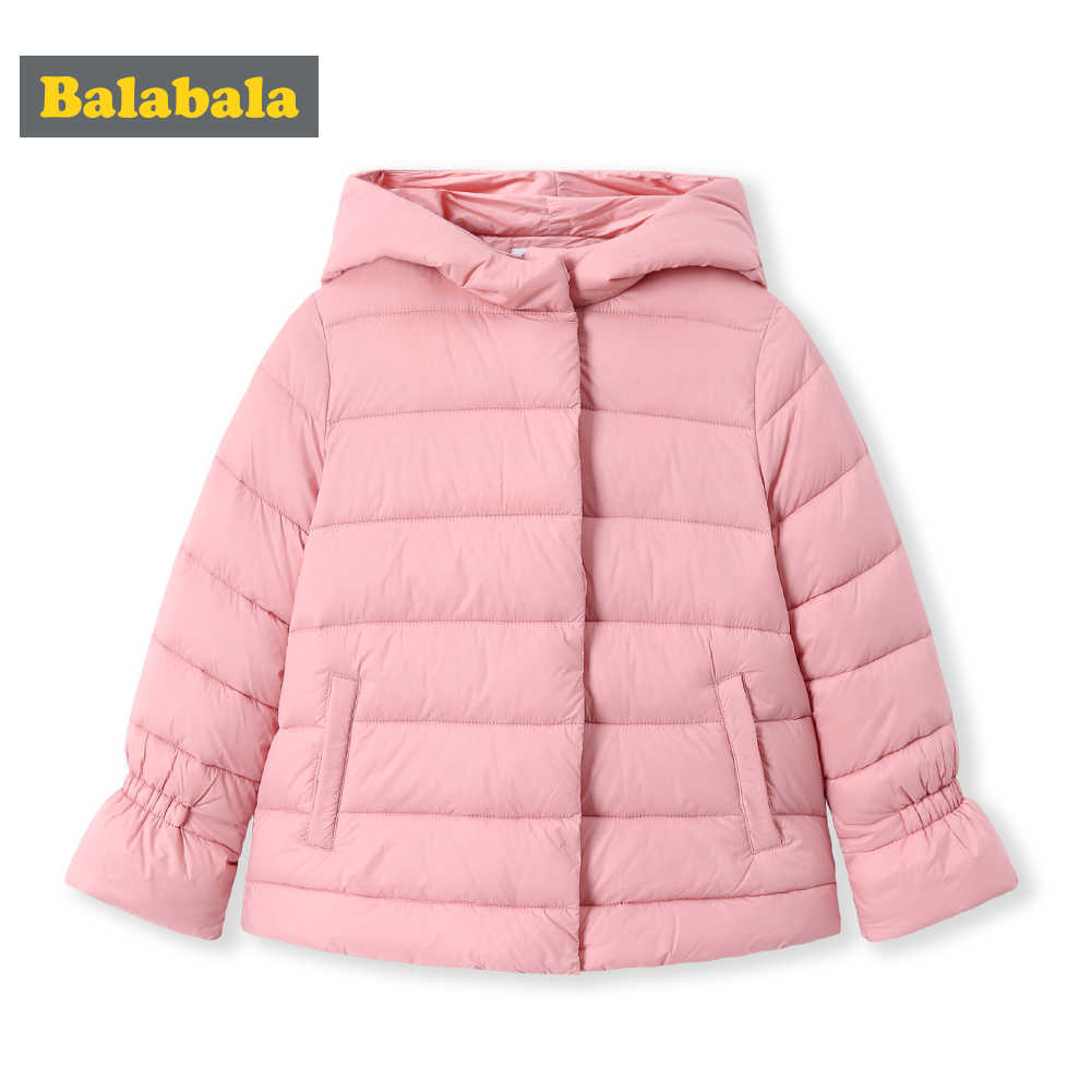 Balabala 2018 ジャケットパーカーガールズボーイズ綿コート冬暖かい女の子ダウンジャケット子供服コットンフード付き