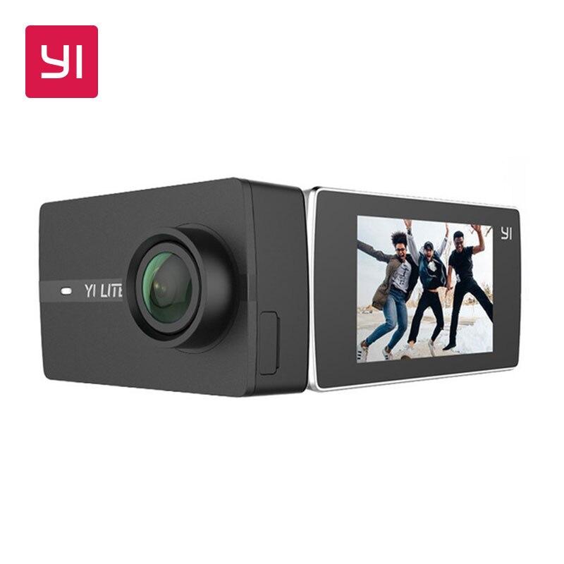 YI Lite caméra d'action avec boîtier étanche 16MP réel 4 K caméra de sport en plein air WIFI 2 pouces écran LCD 150 degrés grand Angle objectif