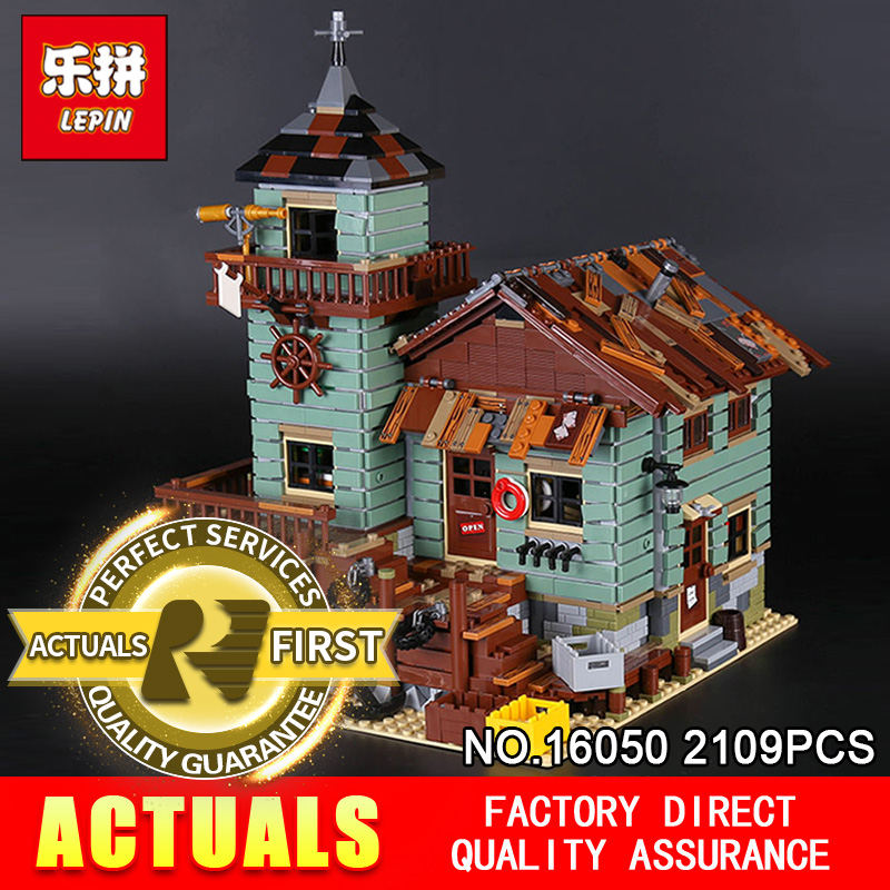 Lepin 16050 2109Pcs Creative MOC Series The Old Finishing Store Set Children Educational Building Blocks Bricks Toys Model 21310 lepin 16050 the old finishing store set moc series 21310 building blocks bricks educational children diy toys christmas gift