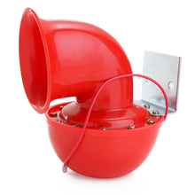Loud 200DB 12V Red Electric Bull Horn Air Raging Sound For Car Motorcycle Truck Boat