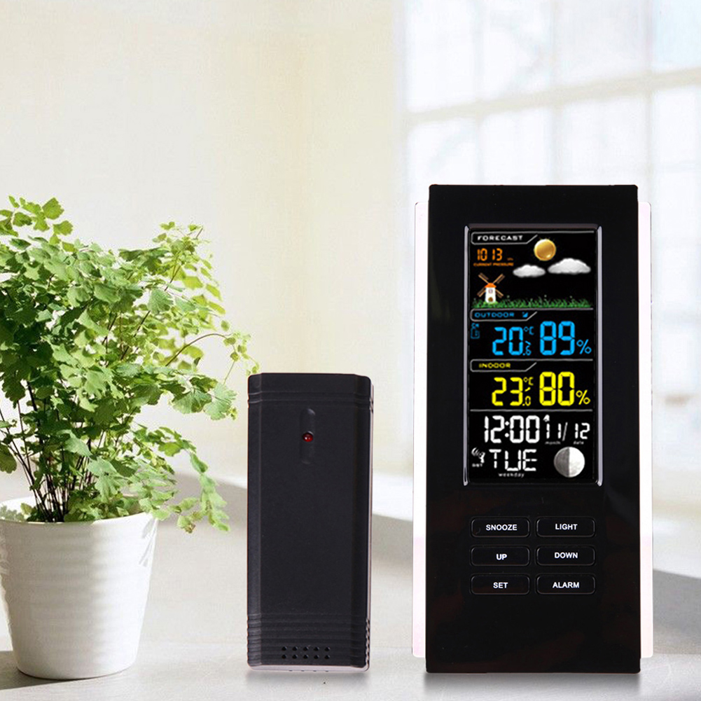 Digital Thermometer With Remote Sensor Thermometer Street Temperature Weather Station Outdoor Wireless Measurement remote bimetal thermometer with capillary dial 3