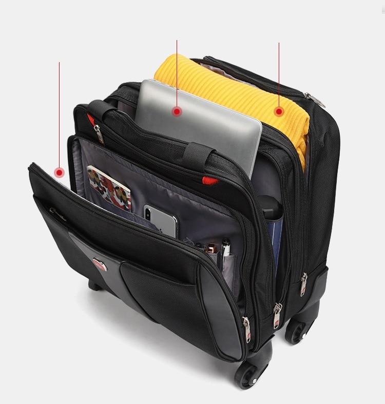 New Waterproof  Multifunction Rolling Luggage 16