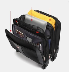 New Waterproof  Multifunction Rolling Luggage 16Spinner Boarding Suitcase Travel Bag Trolley Carry On Wheels Business Bag