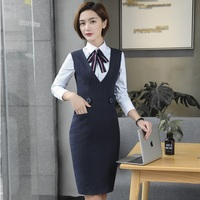 Fashion Striped OL Styles Autumn Winter With Blouses And Dress For Ladies Office Blazers Business Women