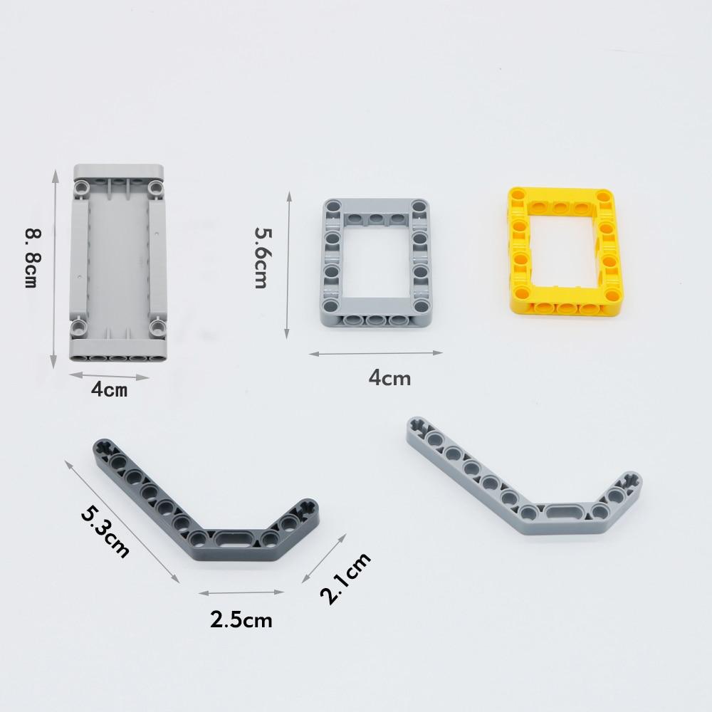 548PCS Blokovi Tehnički dijelovi Glava konstrukcijskog opleta MOC - Izgradnja igračke - Foto 4