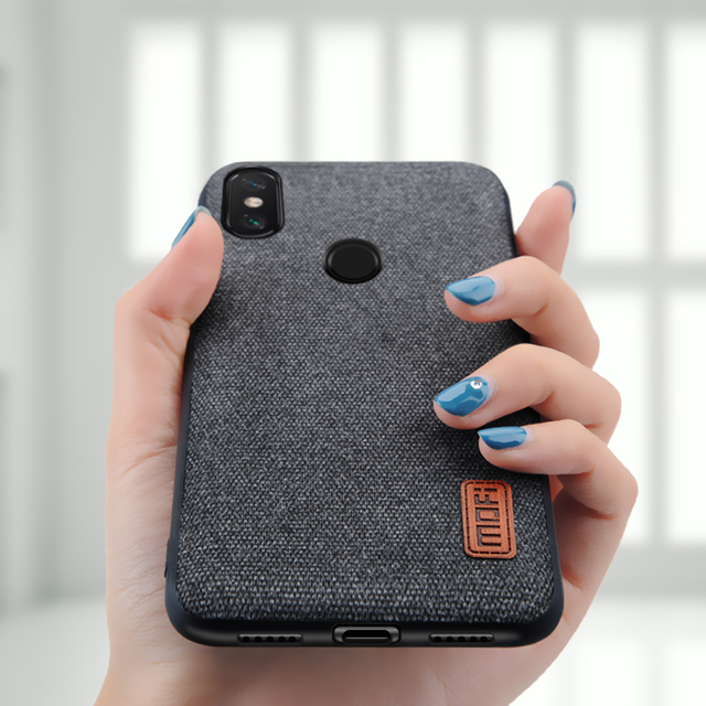 MOFi Xiaomi Redmi Note 6 Pro Luxury Fabric Shockproof Back Case Cover
