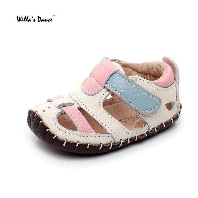 a4ba4259cde6d Genuine Leather Baby Boy Sandals 2017 Summer Patchwork Shoes Baby Girls Soft  Soles Anti-slip Toddler Infant Sandals