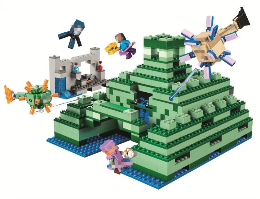 BELA the Ocean Monument Building Blocks Sets Bricks My worlds Movie Model Kids Minecrafted Toys For Children Compatible Legoe kazi 608pcs pirates armada flagship building blocks brinquedos caribbean warship sets the black pearl compatible with bricks