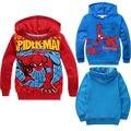 2016 venta Caliente de Los Bebés niñas Niños Spiderman Sudadera Pullover Hoodies hoody de la ropa del Otoño de los niños