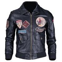 Нам Стиль Air Force узор рядовой автомобильной кожаная куртка пальто большой и высокий Для мужчин s Plus Размеры 4XL патч для мужчин PU пальто C1669