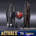 562 Unids Star Wars Fuerza de Primer Orden Especial TIE Fighter Modelo Kits de Construcción de Juguetes de Bloques de Ladrillos Compatible Con 75101