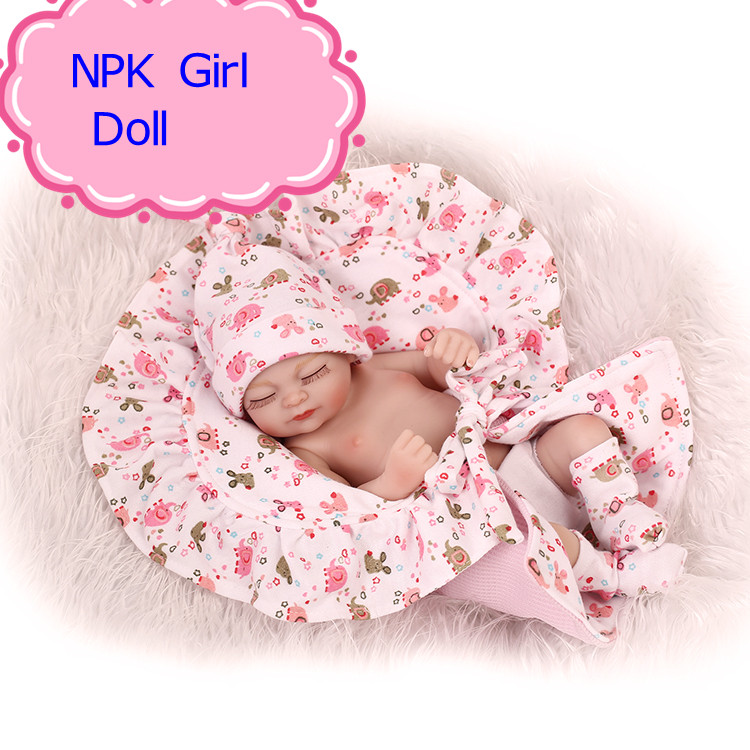 NPK 11Inch Hot Full Silicone Vinyl Reborn Baby Doll Realistic Girl /Boy Babies Dolls Lifelike Kids Toy As Children Birthday Gift short curl hair lifelike reborn toddler dolls with 20inch baby doll clothes hot welcome lifelike baby dolls for children as gift