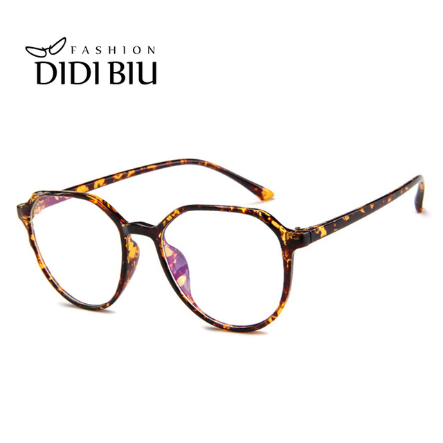 c5653c6b92 Cat Eye Plastic Leopard Glasses Frame Polygon Vintage Spectacle Frames For Women  Men Transparent Eyewear Frames
