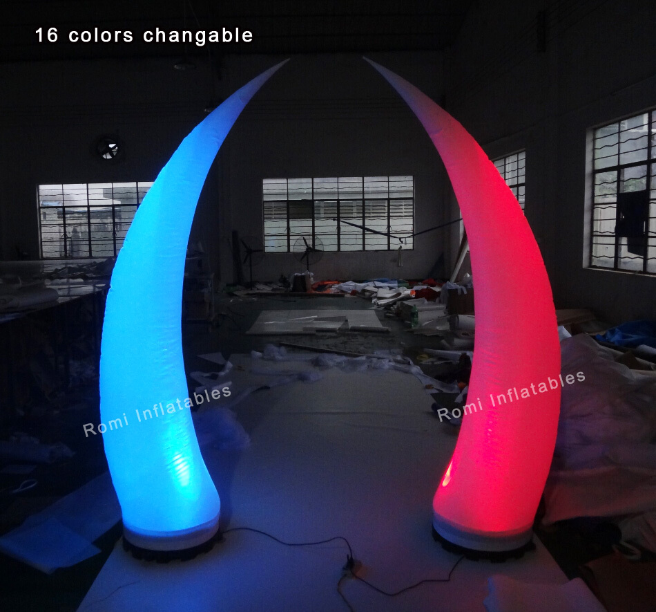 Decoration LED lighted inflatable cone inflatable ivory light party events decorativeDecoration LED lighted inflatable cone inflatable ivory light party events decorative