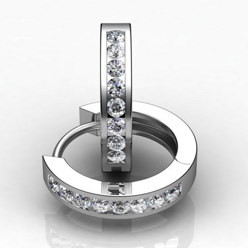 Top népszerű divat cirkónium fülbevaló lányok 925 ezüst ékszer nő fülbevaló kiegészítők esküvői fülbevaló nőknek