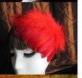 De moda de nova feather headband cocar vestido retro cap defletor 2016