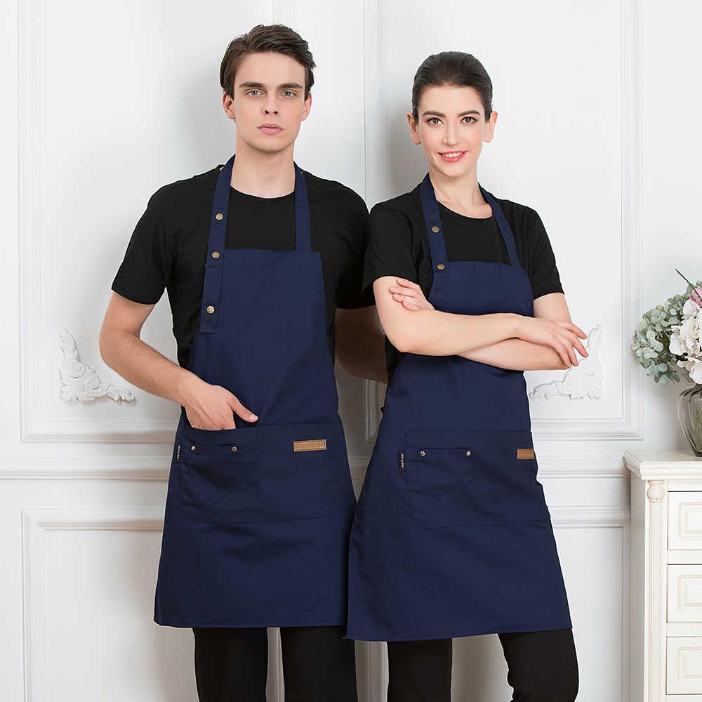 חגורה סינר מסעדת שף Cozinha עבודה ללבוש גברים נשים קנטינה בית מטבח בישול מדים מלצר מלצרית תליית צוואר