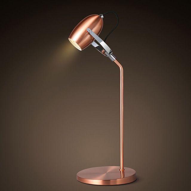 Modern Metal plating table lamps LED eyecare Reading lamp Adjustable Angle shake heads Desk lamp