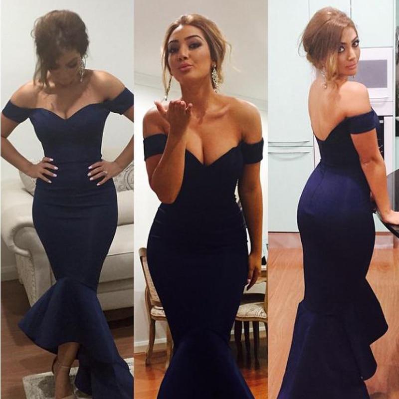 Royal Blue Sexy Backless De La Sirena Vestidos De Dama De Honor