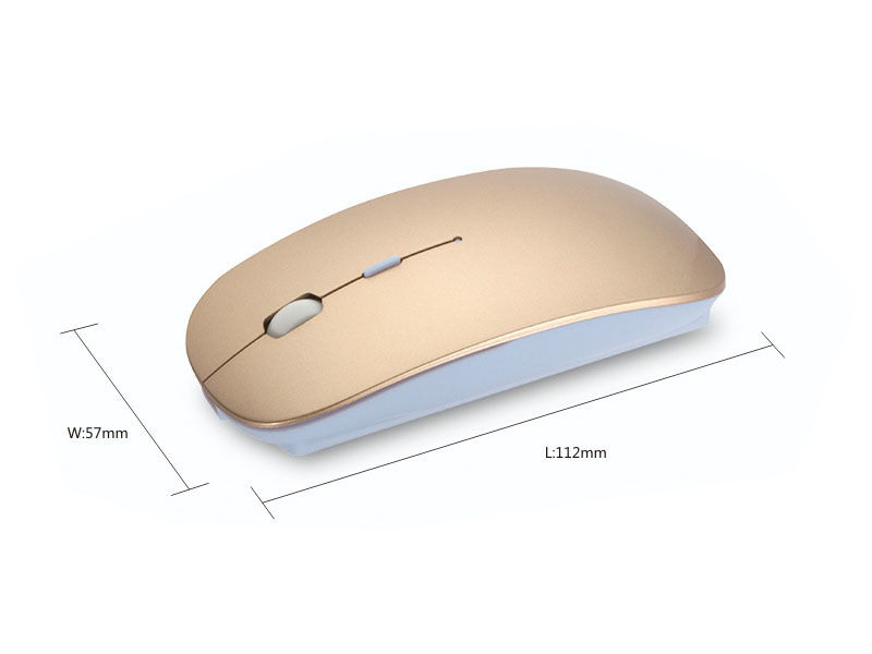 Gmilli 1600DPI Optical Bluetooth Wireless Mouse for Macbook Air Pro Win10/Mac Laptop Computer Tablet PC 3