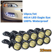 AUXITO 10x Car LED Eagle Eye Daytime Running Light 18MM 23MM 4014 LED Waterproof DRL Parking Lamp For Ford Focus 2 3 1 Fiesta