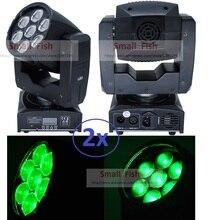 2 xLot 2016 ZOOM LED Cabeza Móvil Abeja GRANDE Ojos Cree 7×12 W RGBW 4in1 LED Quad Haz de Luz B Lavado de Ojos Brillante Estupendo del Efecto de Etapa luz