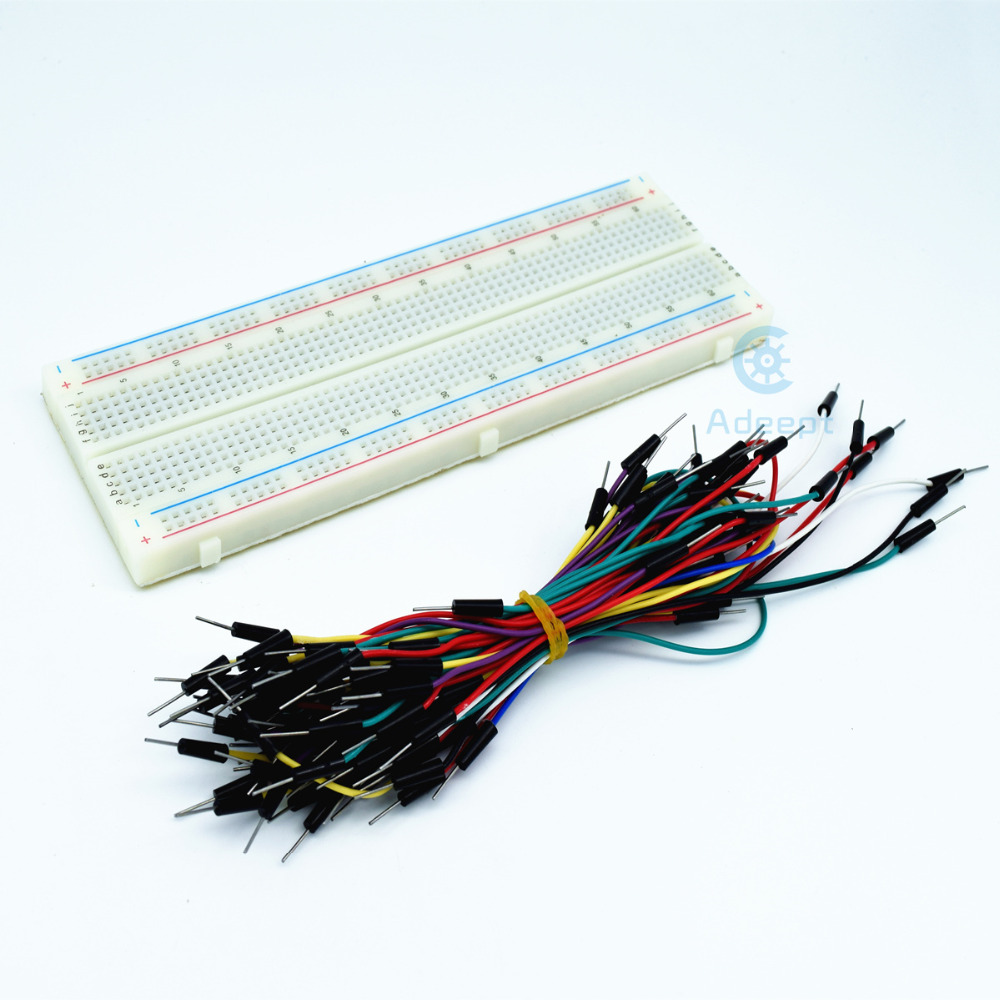 Adeept New Solderless Prototype PCB Breadboard with 65pcs Jumper - Smart Electronics
