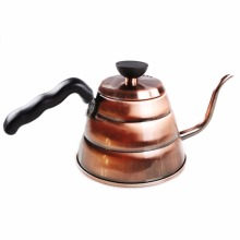 Top Sell Stainless Steel Coffee Kettle Bronze Tone, PC handle, 1L BS