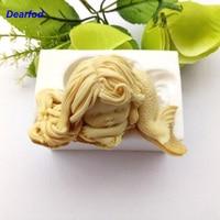 180104 Mermaid Design 2 Silikon Kalıp Sabun Mum ve Çikolata yapmak için Mutfak DIY Aracı