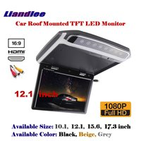 12.1 inch Car Flip Down Display / Roof Mounted Monitor / Overhead Ceiling TFT LED Screen / 1080P HD Color Digital TV MP5 Player