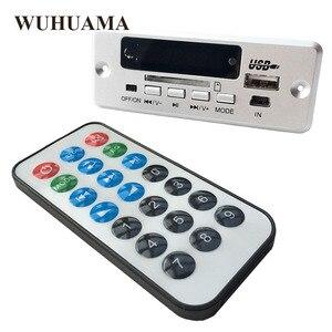 Image 1 - DC5V الرقمية بلوتوث MP3 فك مجلس مع 2*3 W مكبر للصوت قابلة للشحن SD FM راديو البسيطة USB Aux في سيارة DIY وحدة صوت