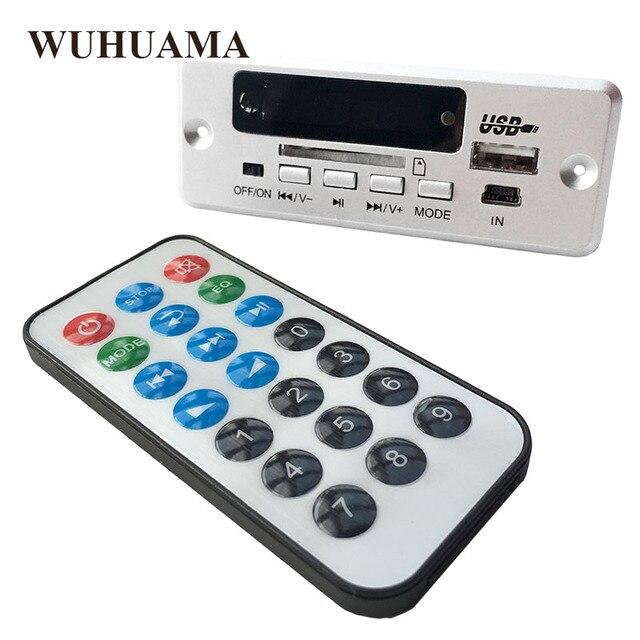 DC5V الرقمية بلوتوث MP3 فك مجلس مع 2*3 W مكبر للصوت قابلة للشحن SD FM راديو البسيطة USB Aux في سيارة DIY وحدة صوت