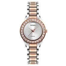 SKMEI Fashion Women Quartz Watch Luxury Casual Ladies Wrist Watches Waterproof Rose Gold Wristwatch Woman Clock Relogio Feminino