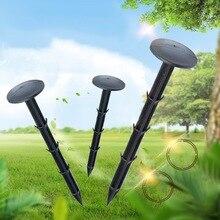 50 шт. черные пластиковые садовые колья якоря гвозди для поддержки растений, Сверхлегкие палатки для кемпинга, лужайки края, игровая сеть