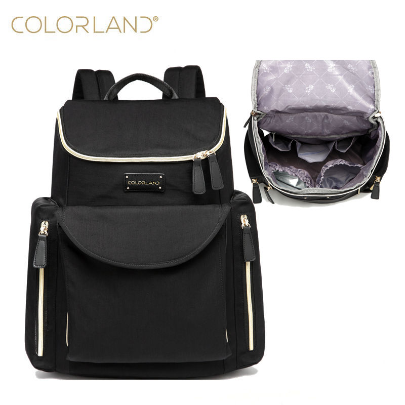 COLORLAND baby travel changing nappy diaper bag backpack handbags for mom daddy fashion mummy maternity bag orgaziner baby bags fashion cute panda baby mummy diaper nappy bags keep fresh lunch breast milk bag thermal portable travel picnic hobos baby care