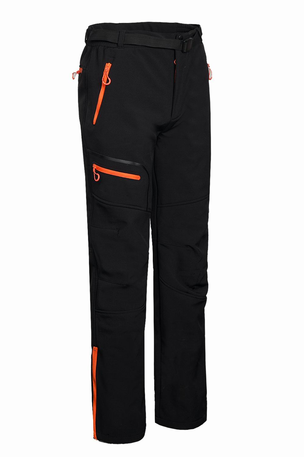 Warm Winter Men Soft Shell Pants Waterproof Pants Fleece Windproof Skiing Trousers 1612
