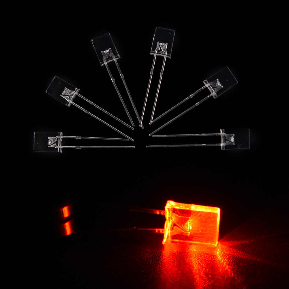 100 pièces carré LED Diodes électroluminescentes lumière LED blanc rouge vert bleu jaune ampoules Rectangle nouveauté