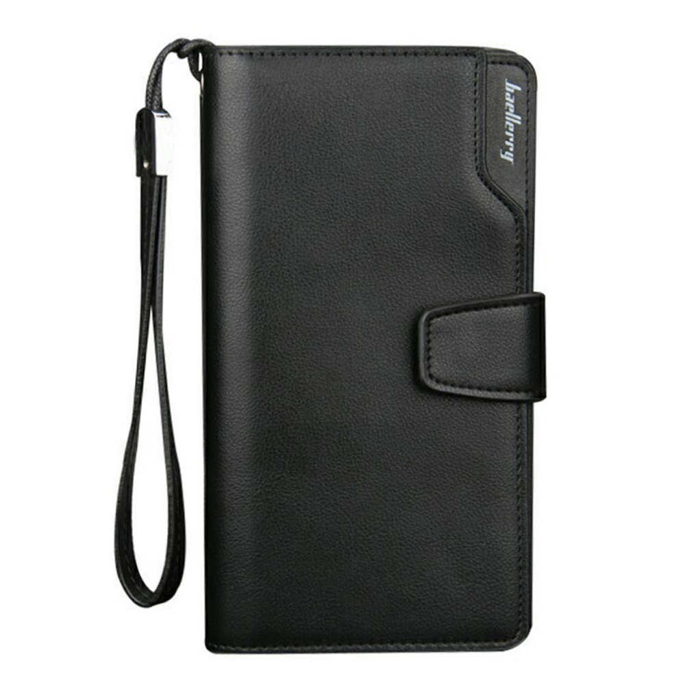 2018 New Men Long Wallet High Quality PU Leather Clutch Zipper Long Wallets Male Coin Pocket Purse Phone Wallet Money Bags Hot 2016 famous brand new men business brown black clutch wallets bags male real leather high capacity long wallet purses handy bags