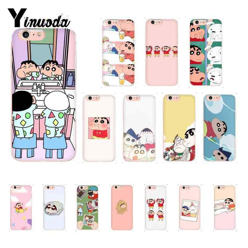 Yinuoda We are brother forever Japanese anime Crayon Shinchan Luxury Case for iPhone 8 7 6 6S Plus X XS MAX 5 5S SE XR 10 Cover