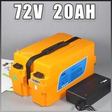 72 В скутер электрический мотоцикл электрический велосипед Батарея 72 В 20ah li-мом Батарея 72 В 1000 Вт 1200 вт литиевых Батарея pack