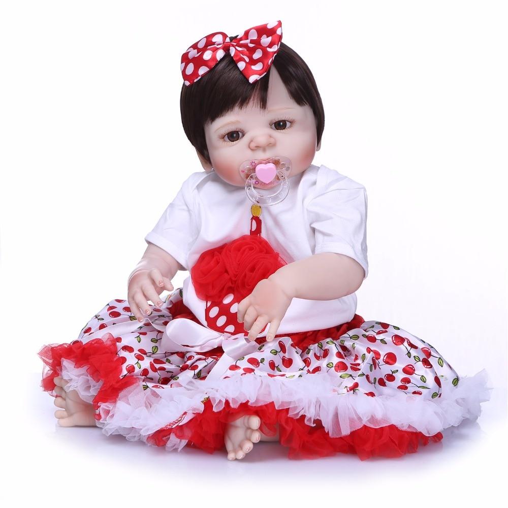 NPK Real bebes Reborn 57CM Full Body SIlicone Girl Reborn Babies Doll Bath Toy Lifelike Newborn Princess Baby DollNPK Real bebes Reborn 57CM Full Body SIlicone Girl Reborn Babies Doll Bath Toy Lifelike Newborn Princess Baby Doll