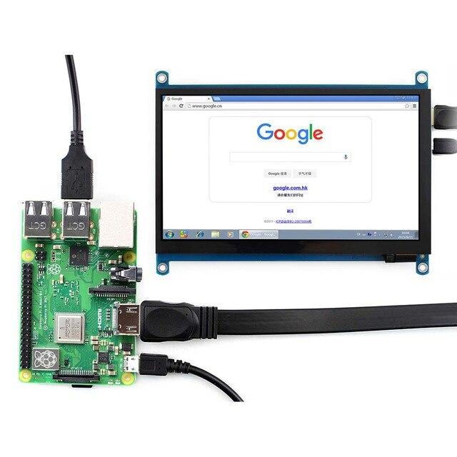 Waveshare 7 cal ekran LCD HDMI (H) tablet monitora 1024x600 IPS pojemnościowy ekran dotykowy obsługuje Raspberry Pi BB czarny Banana Pi itp