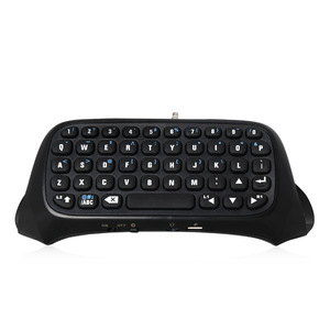 Image 2 - Mini Wireless Keyboard, With Touchpad Mouse, For PS4, Backlit Handle, Bluetooth Rechargeable Keyboard, Chatpad Adapter