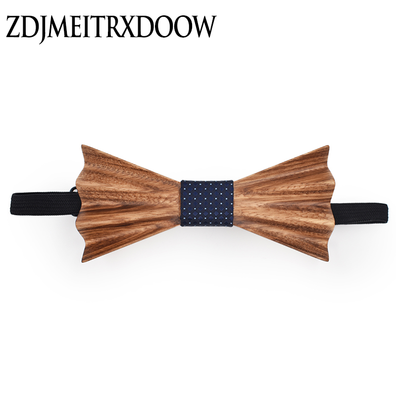2018 Hot Fashion Men Wooden Bow Tie Men Bow Tie Wooden Event Hardwood Wood Bow Tie For Men Butterfly Neck Ties Krawatte Gravata