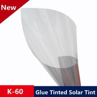 1.52x15m 60%VLT Glued Solar Tint Window Film Grey Control Adhesive Residential DIY Window Film for Privacy and Heat Rejection