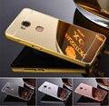 Espelho de Galvanoplastia luxo Casos de telefone De Metal De Alumínio Moldura Fina Protective Hard cover para Huawei honor 5x Tampa Traseira