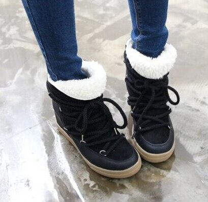 mode hiver chaud neige femmes bottes marque conception de fourrure l 39 int rieur des femmes. Black Bedroom Furniture Sets. Home Design Ideas