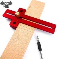 DANIU 170/270/370mm  regla de agujero Tipo T de aleación de aluminio para carpintería  regla de herramientas para marcar  regla de trazado